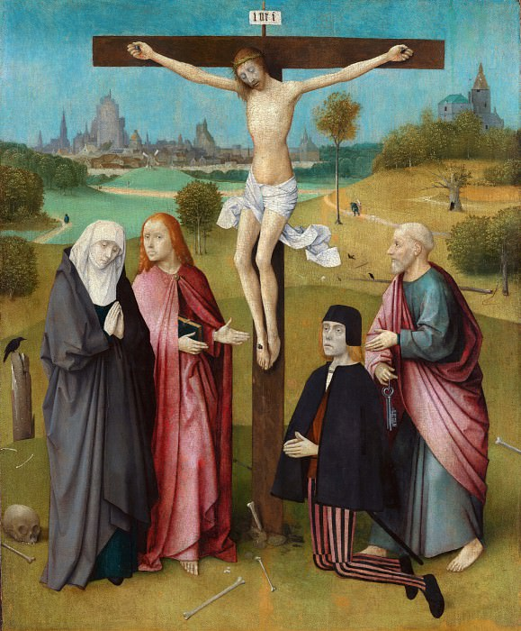 Calvary with Donor. Hieronymus Bosch