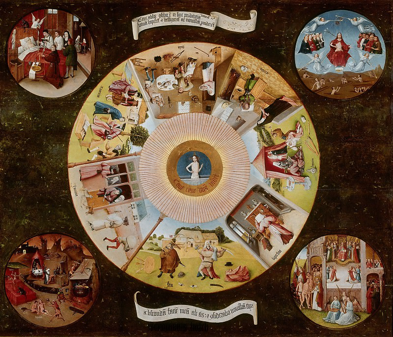 The Seven Deadly Sins and the Four Last Things (workshop or follower). Hieronymus Bosch