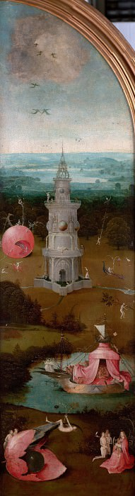 The Last Judgement, left wing - Paradise. Hieronymus Bosch