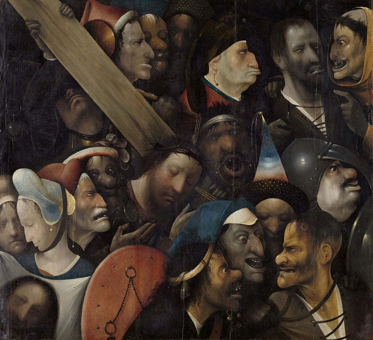 Christ carrying the Cross (follower). Hieronymus Bosch