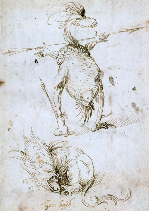 Two Monsters. Hieronymus Bosch