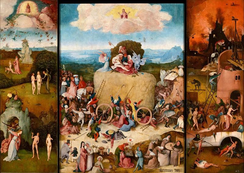 The Haywain. Hieronymus Bosch