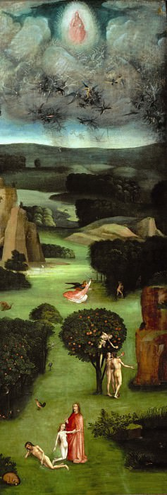 The Last Judgement, left wing. Hieronymus Bosch
