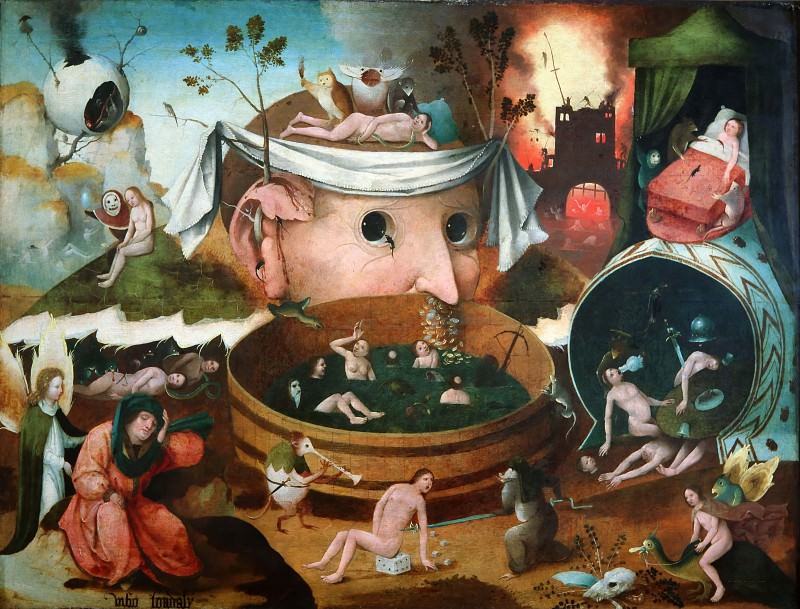 The Vision of Tnugdalus (school). Hieronymus Bosch