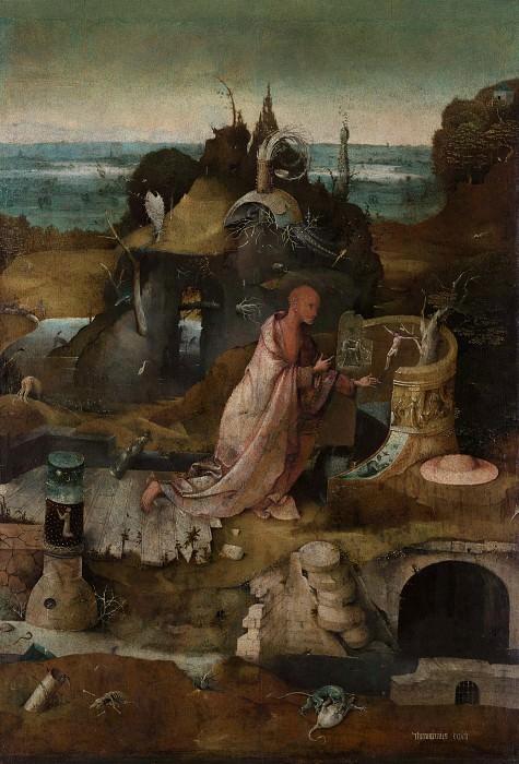 Hermit Saints Triptych - Saint Jerome. Hieronymus Bosch