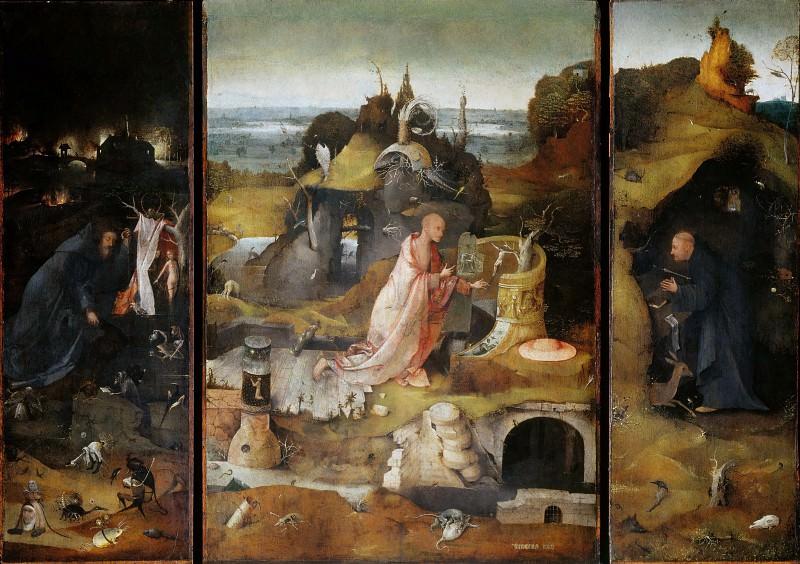 Hermit Saints Triptych. Hieronymus Bosch