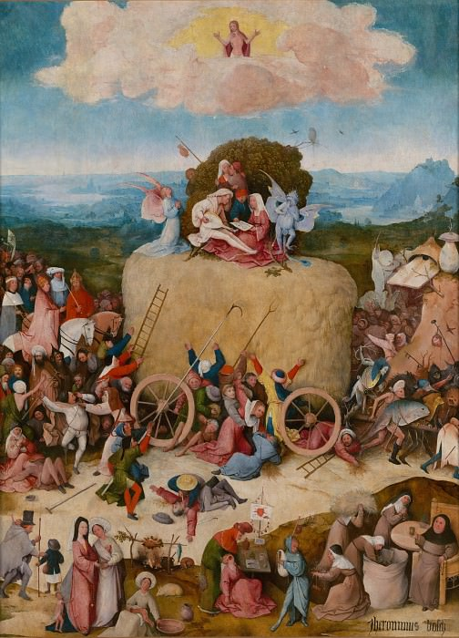 The Haywain, central panel. Hieronymus Bosch