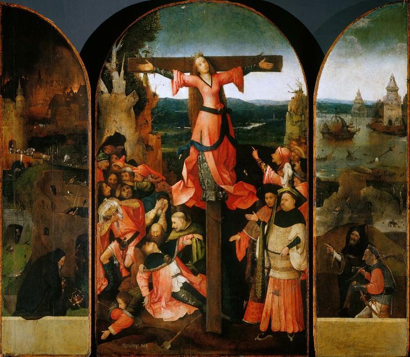 Saint Wilgefortis Triptych. Hieronymus Bosch