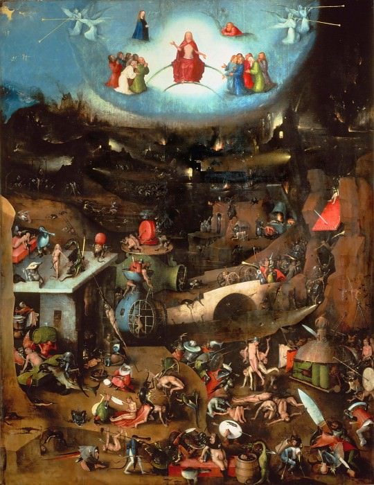 The Last Judgement, central panel. Hieronymus Bosch