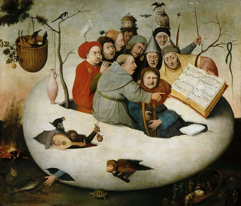 The Concert in an Egg (Copy after a lost original). Hieronymus Bosch