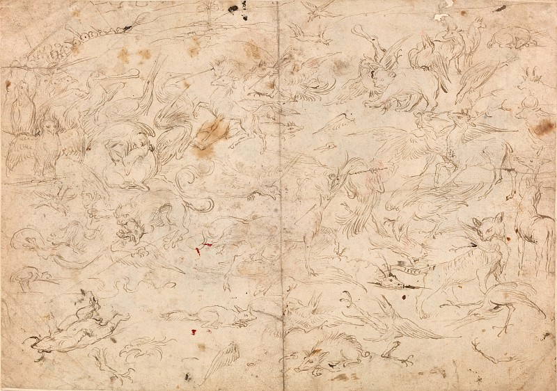 Battle of the Birds and Mammals. Hieronymus Bosch