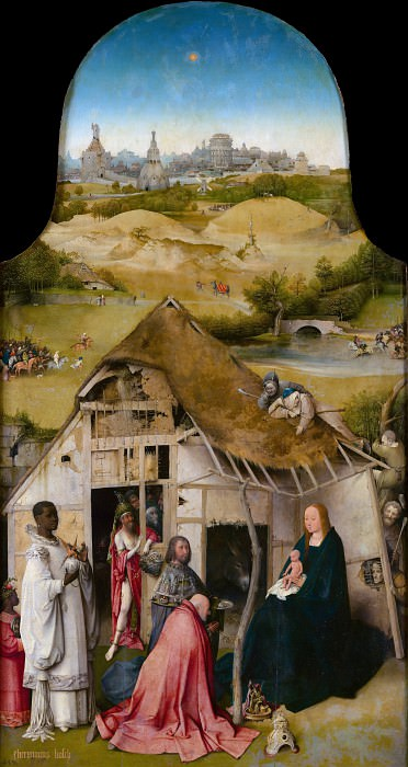 Adoration of the Magi, central panel. Hieronymus Bosch