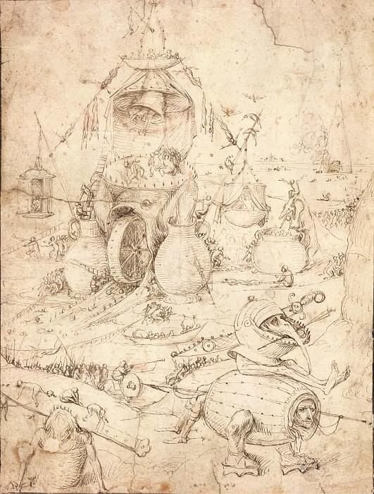 Infernal Landscape. Hieronymus Bosch