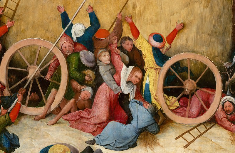 The Haywain, central panel, detail. Hieronymus Bosch