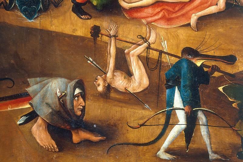 The Last Judgement, detail. Hieronymus Bosch