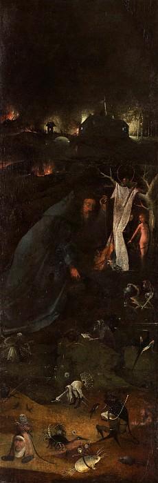 Hermit Saints Triptych - Saint Anthony. Hieronymus Bosch