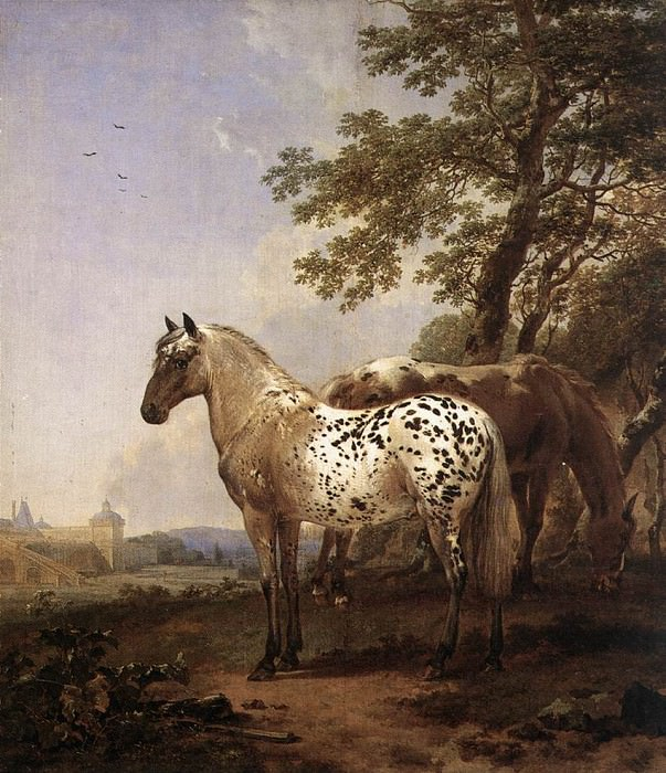 Two Horses in a Landscape. Nicolaes (Claes Pietersz.) Berchem