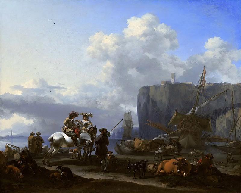 View of an Italian Port. Nicolaes (Claes Pietersz.) Berchem