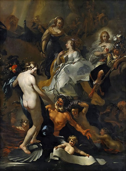 The mythological allegory. Nicolaes (Claes Pietersz.) Berchem