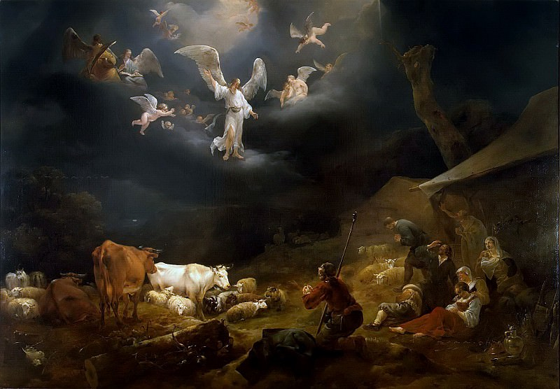 Annunciation to the shepherds. Nicolaes (Claes Pietersz.) Berchem