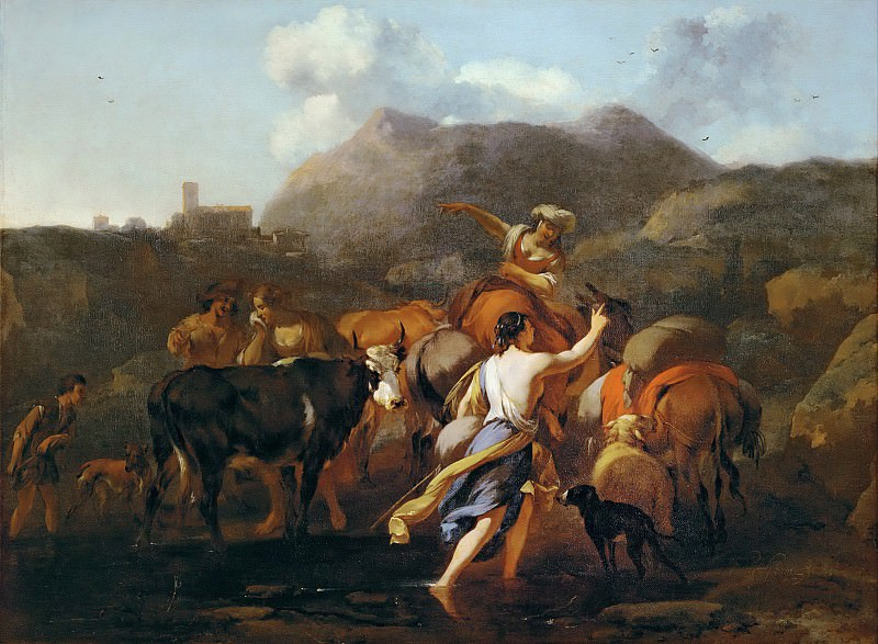 Cowherds and Herd. Nicolaes (Claes Pietersz.) Berchem