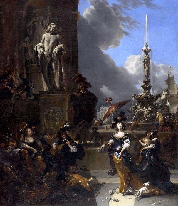 A Concert in a Public Square. Nicolaes (Claes Pietersz.) Berchem