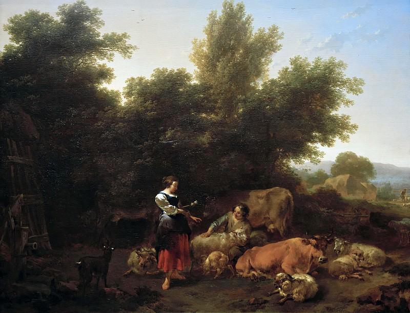 Southern Pastoral. Nicolaes (Claes Pietersz.) Berchem