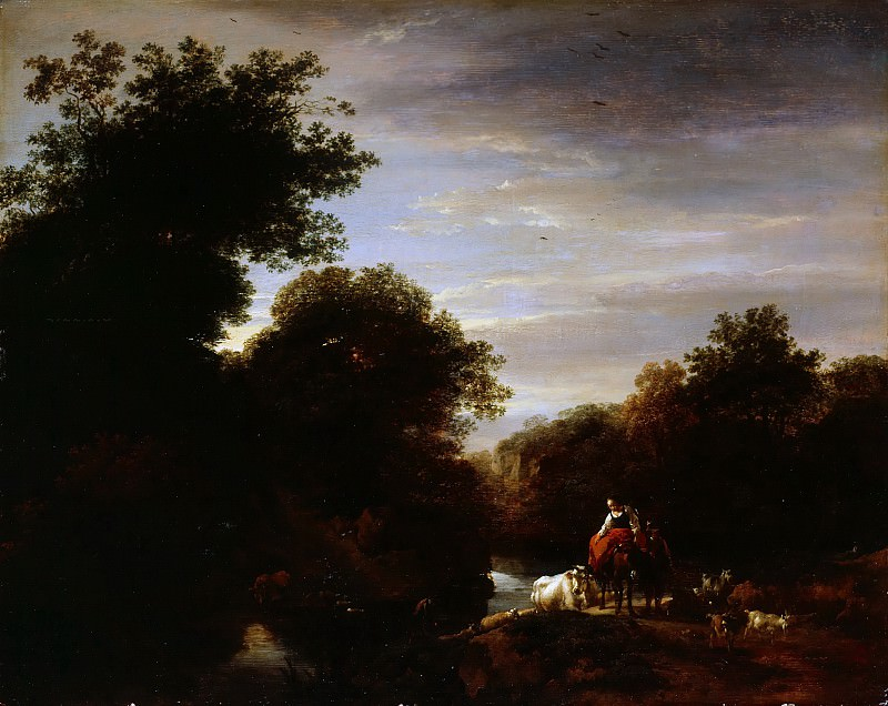 Peasants at a Ford. Nicolaes (Claes Pietersz.) Berchem