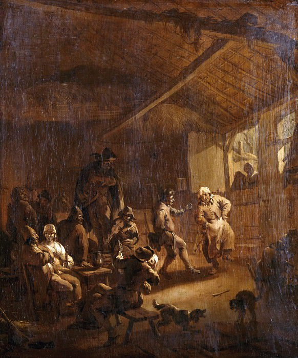 Peasant dance in a tavern. Nicolaes (Claes Pietersz.) Berchem