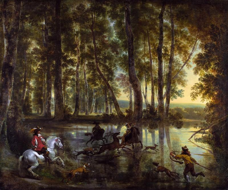 A Stag Hunt. Nicolaes (Claes Pietersz.) Berchem