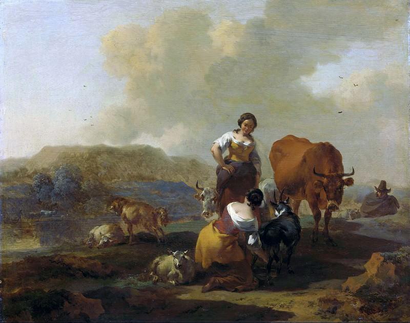 Italian landscape. Nicolaes (Claes Pietersz.) Berchem