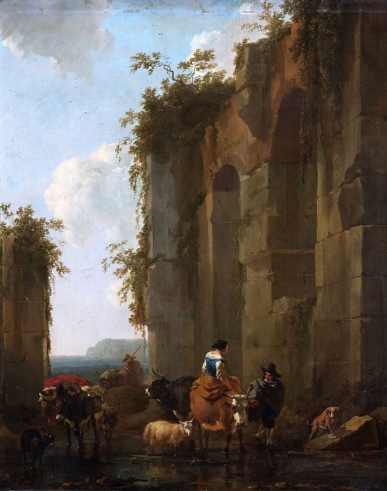 Italian Landscape with Ruines. Nicolaes (Claes Pietersz.) Berchem