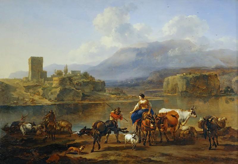Пейзаж с пастухами и стадом. Николас Питерс Берхем