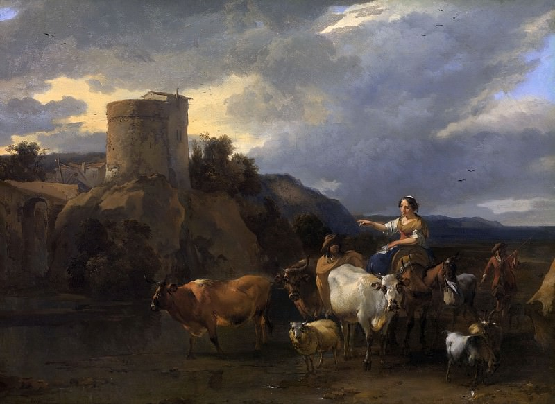 Back from the meadow. Nicolaes (Claes Pietersz.) Berchem