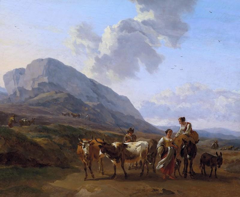 Mountain landscape with shepherds. Nicolaes (Claes Pietersz.) Berchem