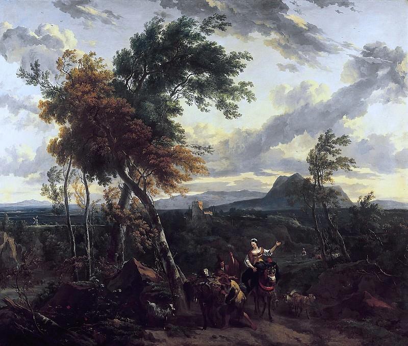 Evening Landscape with Figures. Nicolaes (Claes Pietersz.) Berchem