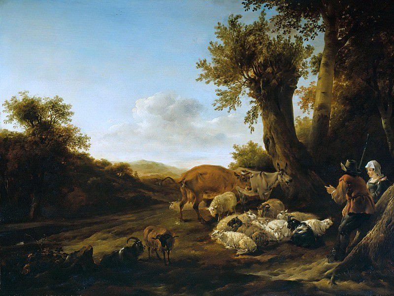 The shepherds with herd. Nicolaes (Claes Pietersz.) Berchem