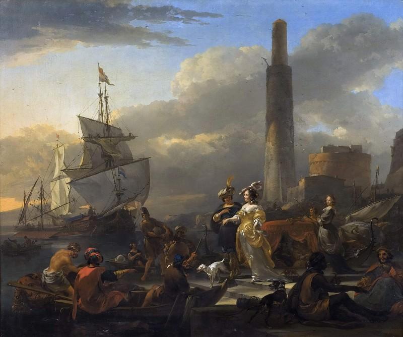 A Harbour Scene. Nicolaes (Claes Pietersz.) Berchem