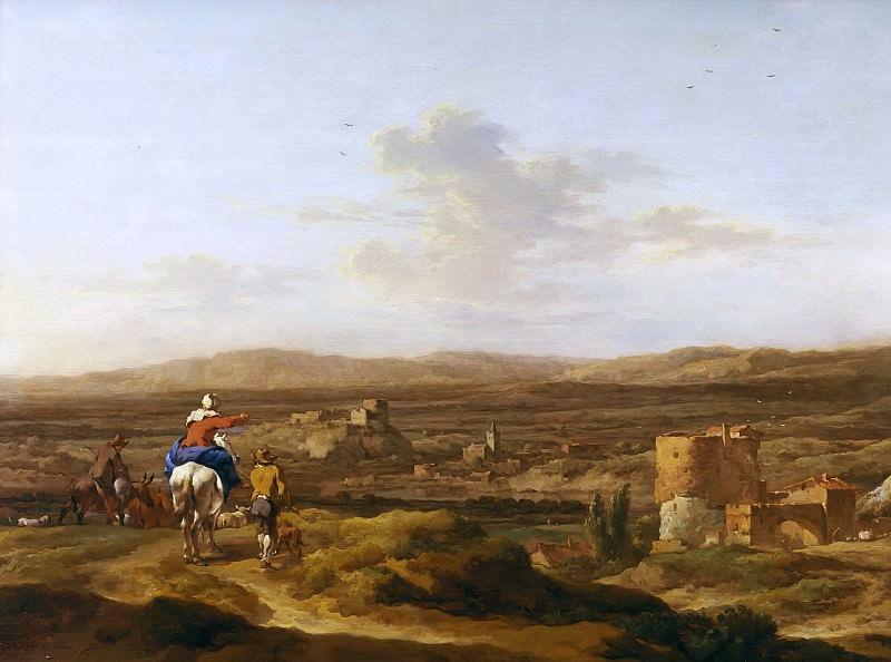 Italian landscape with valley. Nicolaes (Claes Pietersz.) Berchem