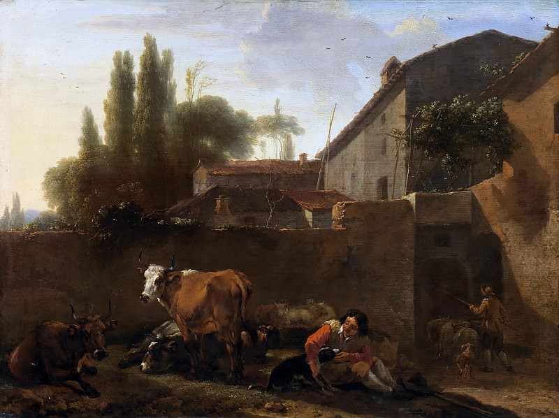 An Italian Farmhouse. Nicolaes (Claes Pietersz.) Berchem