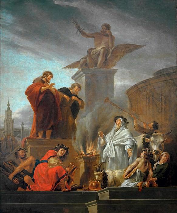 Paulus und Barnabas in Lystra. Nicolaes (Claes Pietersz.) Berchem
