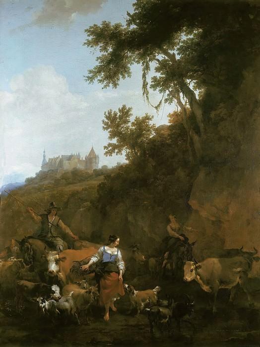 Landscape with Bentheim Castle. Nicolaes (Claes Pietersz.) Berchem