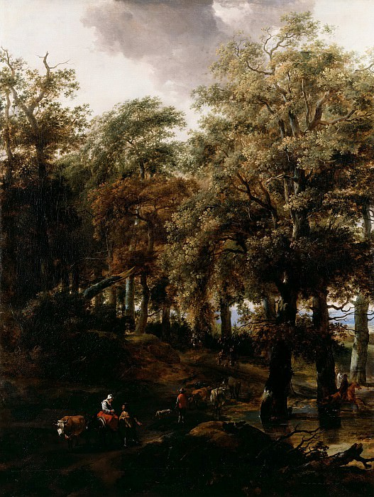 A Road through a Wood. Nicolaes (Claes Pietersz.) Berchem