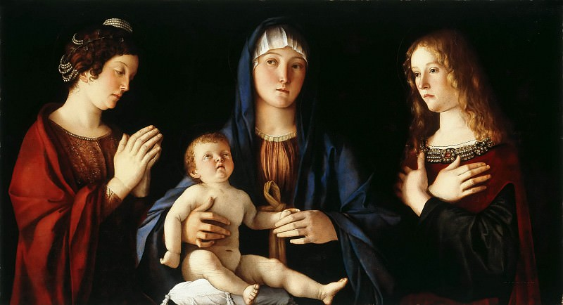 Virgin And Child Between St Catherine And St Mary. Giovanni Bellini
