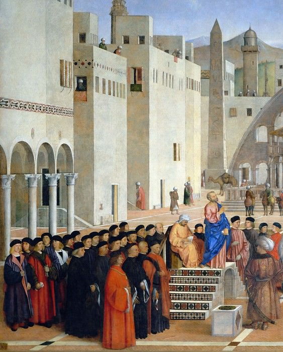 Проповедь святого Марка в Александрии (фрагмент). Джованни Беллини