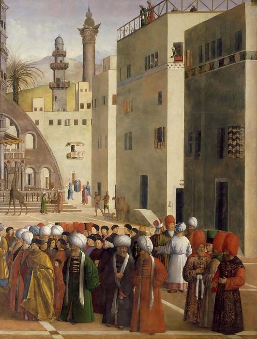 Saint Mark Preaching in Alexandria (detail). Giovanni Bellini