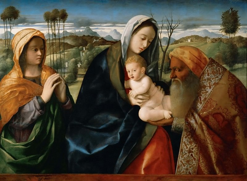 Holy conversation. Giovanni Bellini