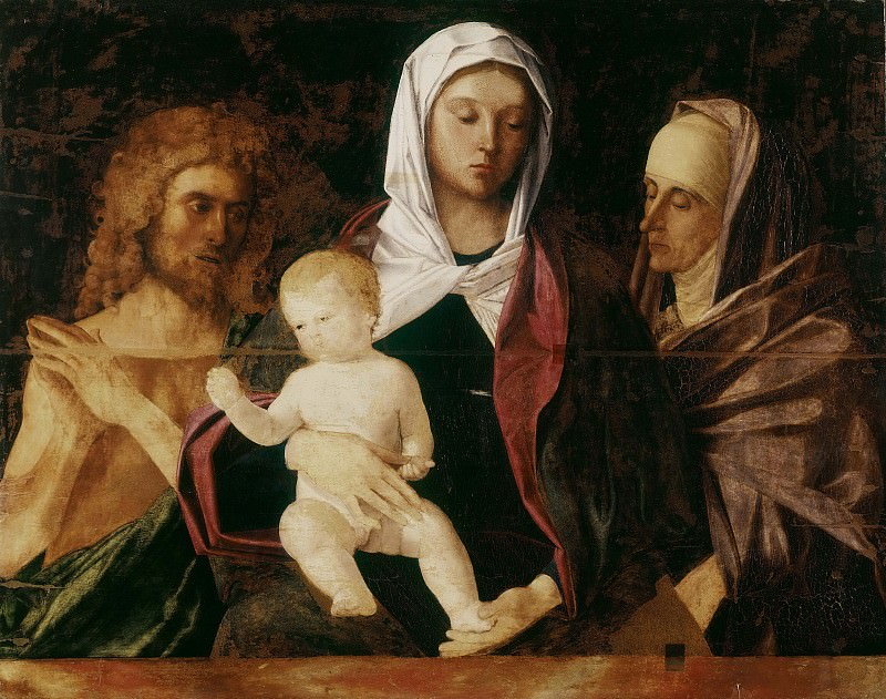 Мадонна с Младенцем в окружении Иоанна Крестителя и святой Елизаветы. Джованни Беллини