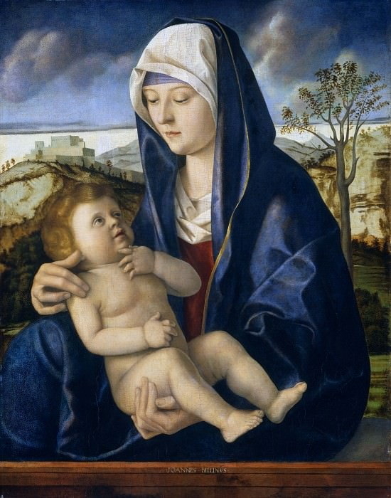 Madonna and Child in a Landscape. Giovanni Bellini (workshop of)