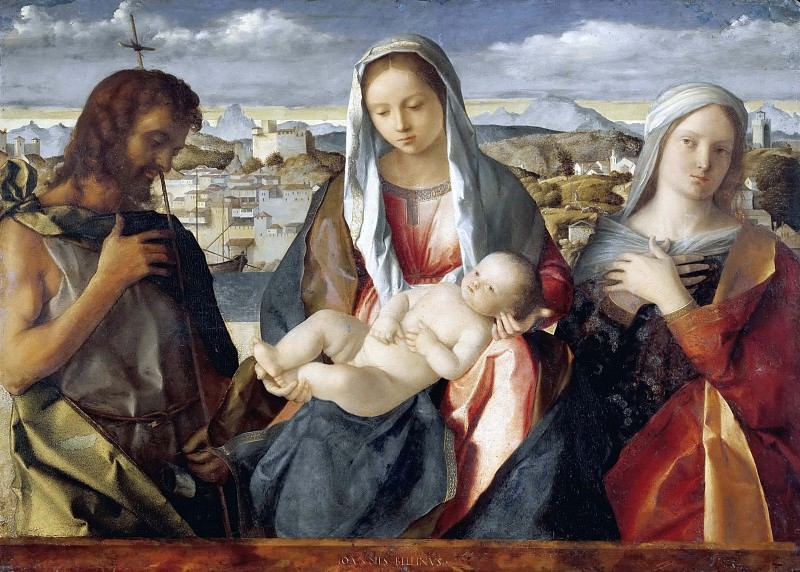 Madonna and child with St John. Giovanni Bellini